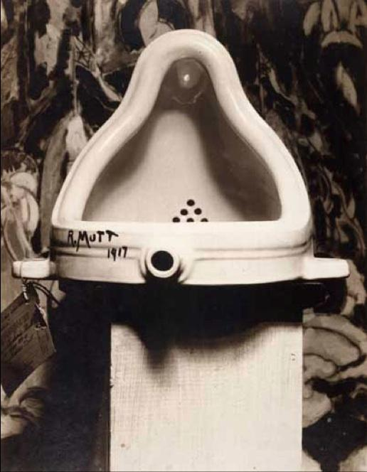 "Alfred Stieglitz's photograph of Marcel Duchamp's ""Fountain"""