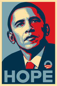 by Shepard Fairey, property of the Smithsonian Institute.