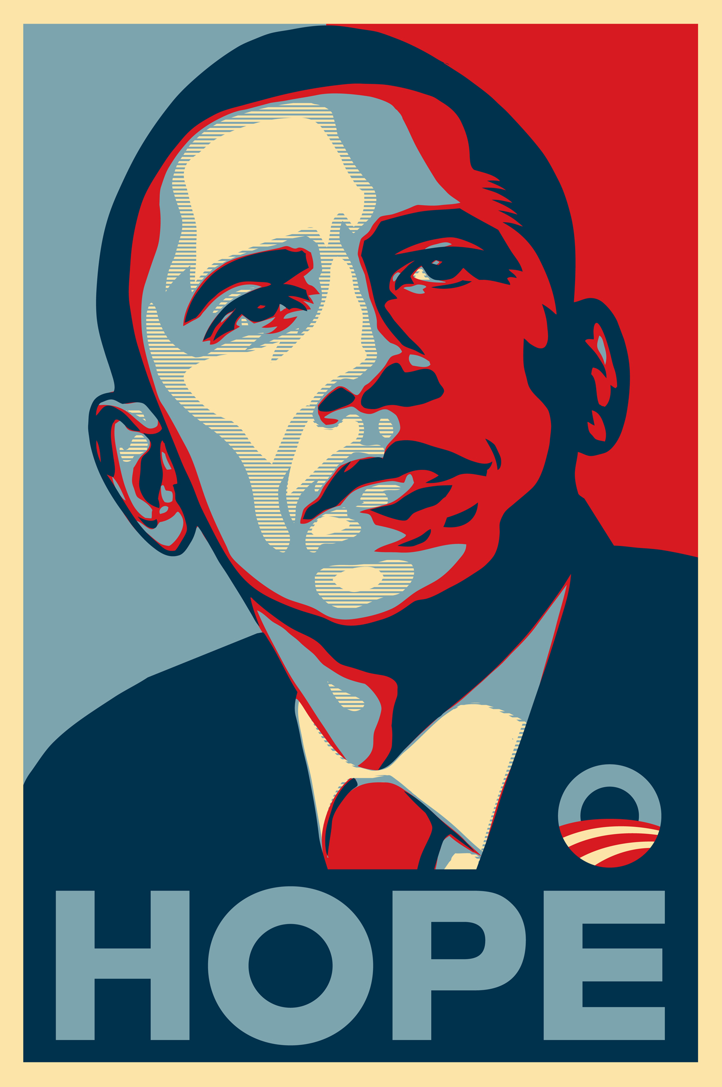 """Hope"" by Shepard Fairey. This picture is courtesy of The Smithsonian Institute. Barack Obama as presumptive nominee"