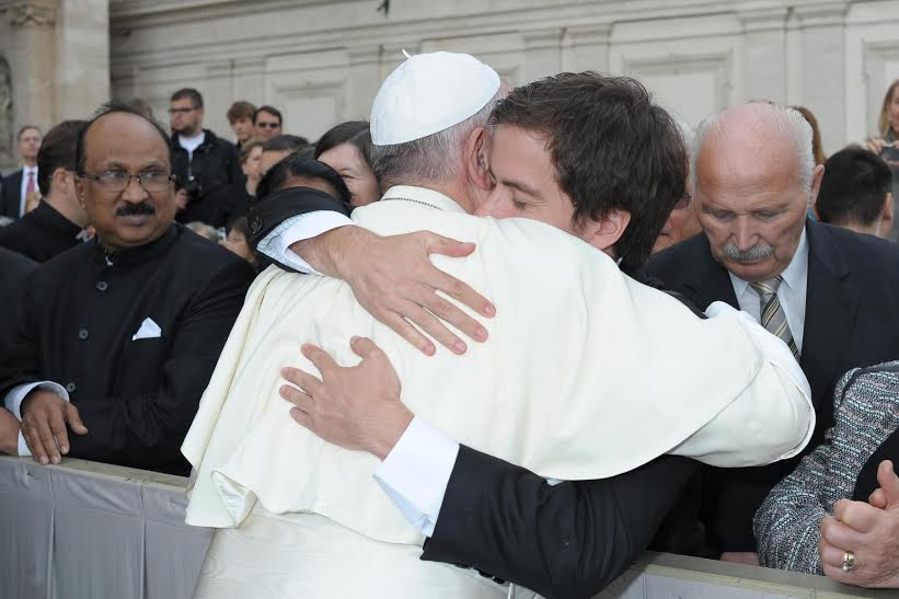 This photograph is courtesy of Juan Manuel Delgado and was taken by the Vatican's photographer