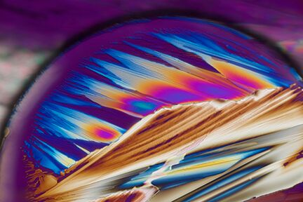 """Tequila Sunrise"" (Anesthetic Crystals), by Carol Roullard. This photograph is courtesy of Carol Roullard."