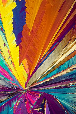 """""""The 60s,"""" (Hydroquinone Crystals,) by Carol Roullard."""