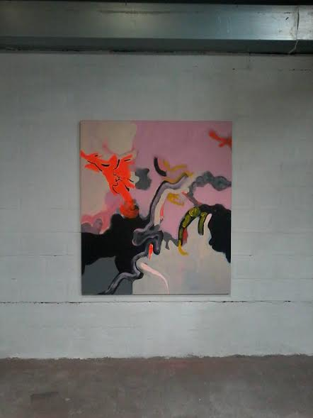 """Strontanoids Limbs I, by Marie Vartenberg. Acrylic on canvas, 51"""" x 59"""", 130 x 150 cm. This photograph is courtesy"""