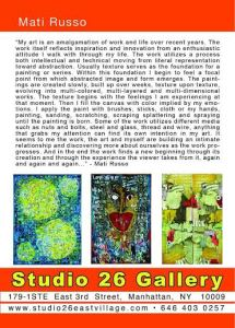 Promotion:  Studio 26 Gallery