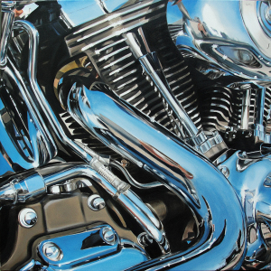 A Nice Day for a Ride ©2013 Allan Gorman Oil on Canvas 40 x 40 inches
