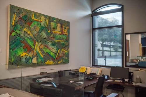Mati Russo's art at Sotheby's Pasadena. Photograph copyrighted to Brenda Haroutunian