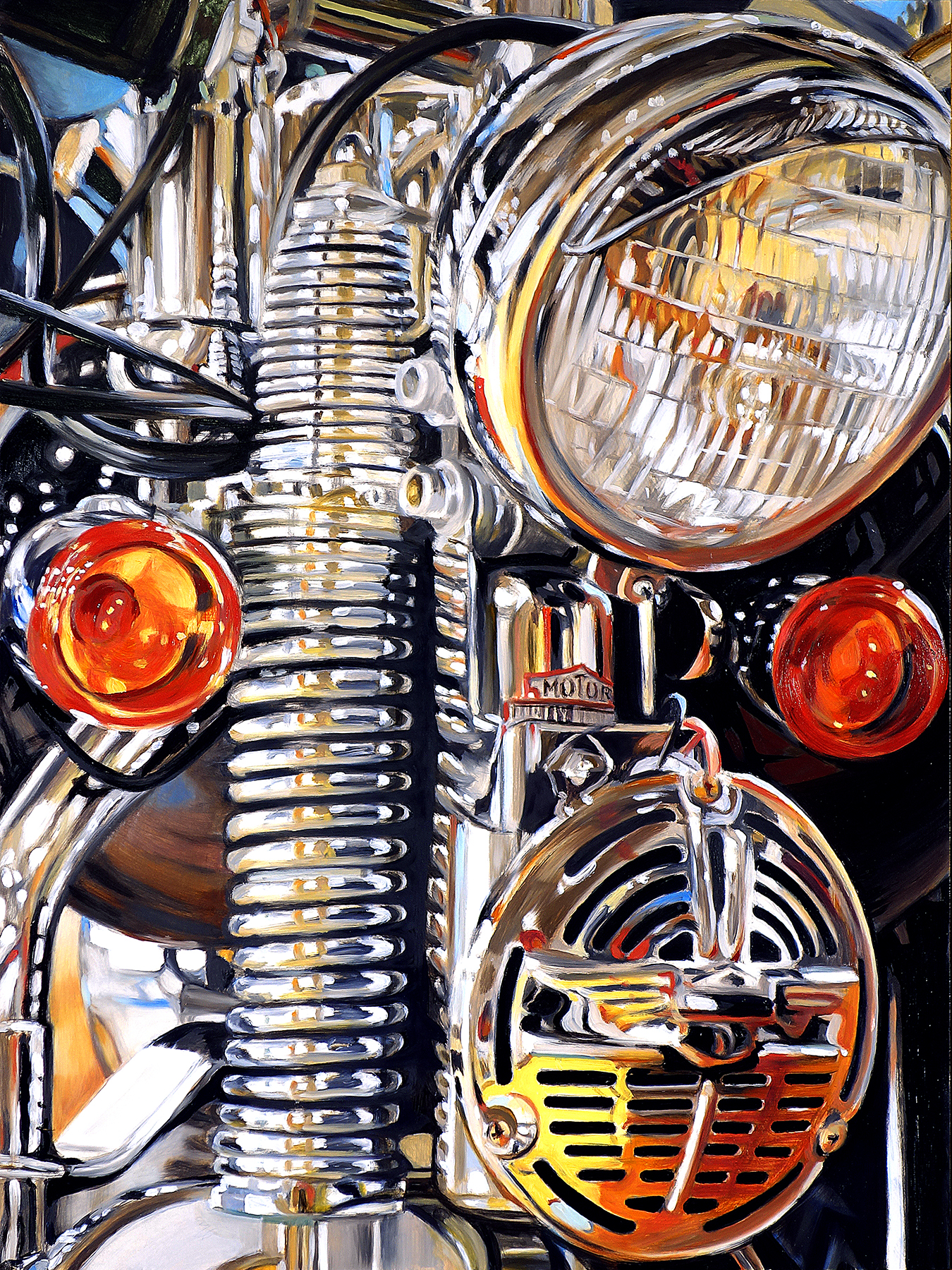 """Three Lights and a Horn."" by Allan Gorman,"