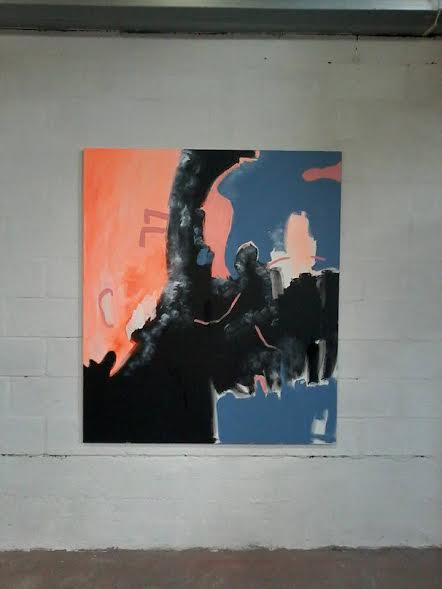 "Even when center is dark, there is still hope, Acrylic on canvas, 51"" x 59"" , 130 x 150 cm"